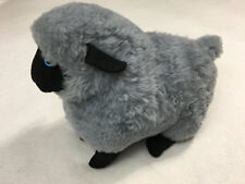 Sheepskin Playmates By Bick Gray Plush Sheep Lamb Genuine Shearling Vtg