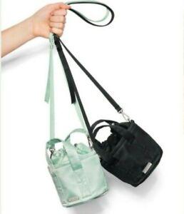 Victorias Secret PINK Set Of 2 Mini Bucket Bag Crossbody Purse Mint Green Black