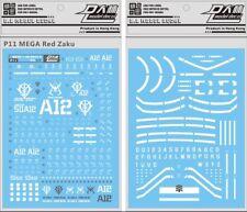 US Seller Gundam water slide decal D.L Dalin Mega Size Red Zaku 1/48 Zeon Gunpla