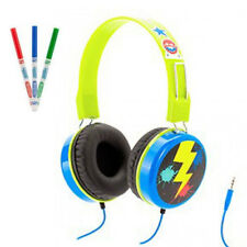 GRIFFIN MYPHONES CRAYOLA OVER HEAD WIRED HEADPHONES KIDS BOYS BLUE GRL-GC36539