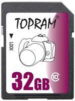 TOPRAM 32GB SD class10 C10 32G SDHC 2.0 secure digital memory card bulk