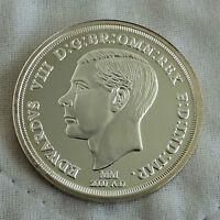 EDWARD VIII 1oz .999 FINE SILVER PROOF ROUND - milestones of the millennium