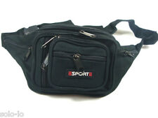 Waist Pouch Bum Bag Black POLYESTER Travel Sport bag new