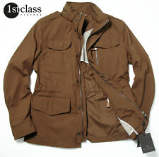 Boss Selection Jacket larov in 50/M RUST BROWN WATER-RESISTANT WITH COLLAR HOOD