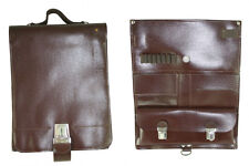 New Czech Army Leather Locking Map Case / Shoulder Bag Military Surplus #Sl-879