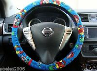 Hand Made Steering Wheel Covers Marvel Comics Blue Avengers
