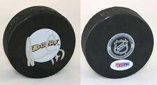 Lubomir Visnovsky SIGNED Anaheim Ducks logo Puck PSA/DNA AUTOGRAPHED