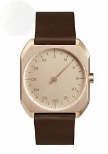 Slow Mo 10 Swiss Made One-Hand 24 Hour Watch Rose Gold With Dark Brown New
