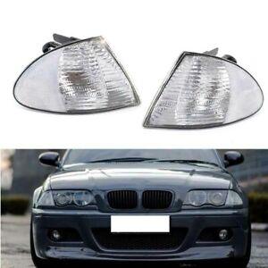 Clear Corner Turn Signal Light For 1999-2001 BMW 323i 325i Set Left & Right Side