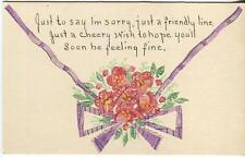 VINTAGE 2 CENTS US POSTAGE STAMPS GARDEN ROSE FLOWER COLLAGE HAND MADE CARD ART