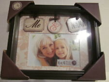 """Nib - New View Gifts Me & Nana 4"""" x 6"""" Floral Matted Shadow Box Picture Frame"""