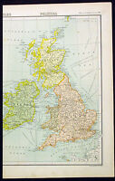 1890 Bartholomew Antique Political Map of Great Britain