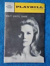Wait Until Dark - Music Box Theatre Playbill - April 1966 - Lee Remick - Duvall