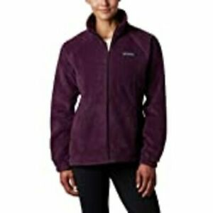 COLUMBIA Benton Springs Fleece Jacket Full Zip Plum Size M or L