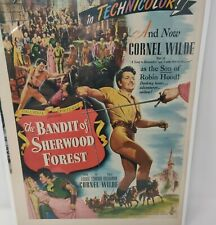 1946 The Bandit Of Sherwood Forest Movie Advertisement