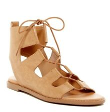 REPORT Womens 'Zahara' Tan Gladiator Flat Sandals Sz 7 - 232376