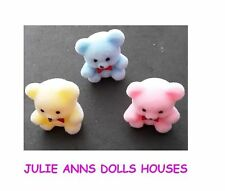 DOLLS HOUSE TEDDY BEARS BABIES 3 PACK 12th SCALE, VERY CUTE  JULIE ANNS