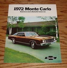 1972 Chevrolet Monte Carlo Sales Brochure 72 Chevy