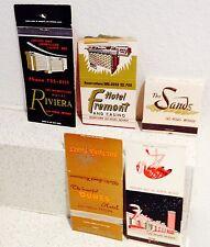 Set of 5 Las Vegas Hotel Matchbooks