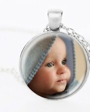 Personalized Custom Photo Necklace Pendant Jewelry Picture Under Clear Glass