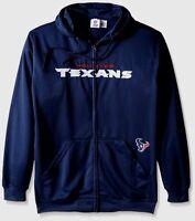 Houston Texans Full Zip Hoodie Therma Base Delay Navy Plus Size Double Logos NFL
