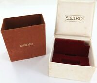 .RARE UNUSUAL VINTAGE SEIKO WATCH DISPLAY BOX + OUTER SLEEVE. REF. 07 059