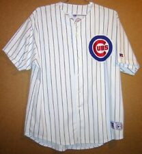 CHICAGO CUBS SAMMY SOSA White Pinstripe Size 2XL #21JERSEY + FREE CAP and PINS!!