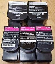 5 MOSTLY NEW Genuine Lexmark 701HM 701XM Mag Toner Cartridges 70% Toner CS510