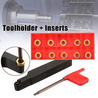 Face Milling External Lathe Blade Holder Boring Bar + Inserts + Wrench Set Tool
