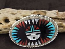 Inlay Belt Buckle Zuni Sunface Multi-Color
