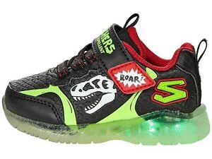 Skechers 401521N/BKLM S Lights ILLUMI-BRIGHTS Dino Glow Skech-Saurus Bambino
