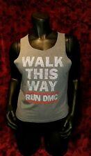 SMALL Run DMC Walk This Way Tank Top: Rap Hip Hop Punk Rock Retro Sexy Rev