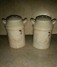 New Rooster vintage milk jug style  SALT AND PEPPER SHAKERS