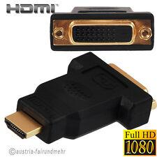 """Adapter HDMI-Stecker auf DVI-D Buchse Full HD vergoldet"