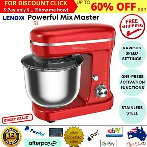 Kitchen Cake Stand Mixer Mixing Machine Electric Beater Food Dough Hook Whisk AU