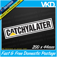 CATCHYALATER Sticker/ Decal - CAT Truck UTE 4x4 DIESEL CATERPILLAR Fck Funny KW