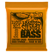 ERNIE BALL SLINKY ELECTRIC BASS GUITAR STRINGS - HYBRID 45 - 105 ROUNDWOUND