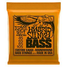 ERNIE BALL SLINKY ELECTRIC BASS GUITAR STRINGS - HYBRID 45 - 105 ROUNDWOUND