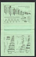 """Protege Cahier / Mesures en bois & pour liquides """"ERBE"""" illustré HIPPODROME"""