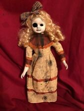 Ooak Hollow Eye Blind Girl Creepy Horror Doll Art by Christie Creepydolls