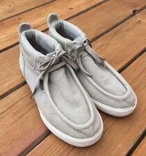 Lugz Canvas Boots Wallabees Beige White Shoes Men's Size 9 M