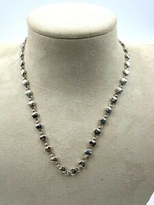 """Authentic TIFFANY & Co Sterling Silver Heart Link Necklace Pendant Chain 16"""" 925"""