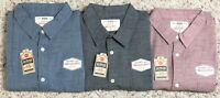 Urban Pipeline Short-Sleeve Textured Button-Down Shirts,Size XXL, Blue, Red, NWT