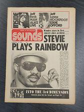 Sounds Magazine feat Stevie Wonder: January 12th 1974