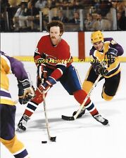 LARRY ROBINSON BIg Bird FLYING UP ICE vs Rookie Murphy 8x10 MONTREAL CANADIENS
