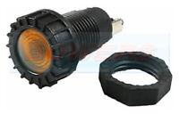 AMBER YELLOW CLASSIC CAR DASH BOARD PANEL WARNING LIGHT LAMP 12V 18MM HOLE