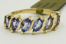 GENUINE 1.32 Cts TANZANITE RING 14k YELLOW GOLD * FREE  Appraisal Service