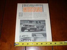 1967 MUSTANG - ORIGINAL VINTAGE ARTICLE