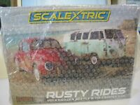 SCALEXTRIC C3966A RUSTY RIDES VW BEETLE AND CAMPER VAN TWIN PACK BNIB