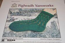 Figheadh Knitting Pattern 2210 Zig Zag Lace Socks ladies 8
